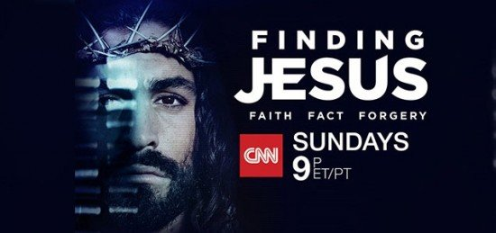 "This ad for a CNN ""documentary"" features Jesus with one eye hidden. A great way to tell us that the contents of that show is most likely skewed to fit the elite's agenda."