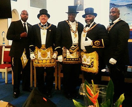 David Henry at a Masonic event.