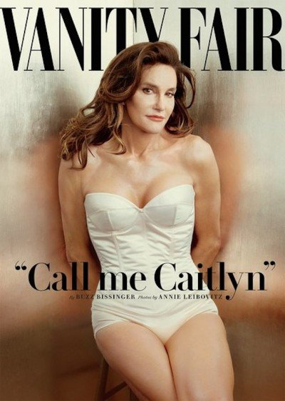"The cover of multiple magazines including Vanity Fair, which ""presented"" Caitlyn to the world."