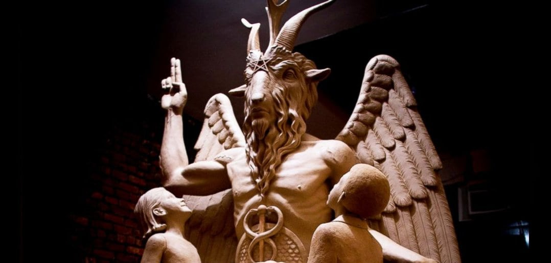 The Satanic Temple Unveils a Massive Statue of Baphomet in Detroit
