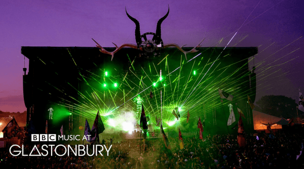 There is also something ritualistic about a bunch of young people dancing under a gigantic set of Baphomet horns - at Glastonbury Festival.