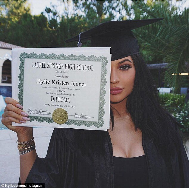 "Speaking of Beta Kitten, Kylie Jenner recently graduated from high school. And this was the ""official"" pic of the graduation that circulated in the media and social networks. It is a coded way of saying that her education is useless as an industry slave. But wait, it might be coincidence."