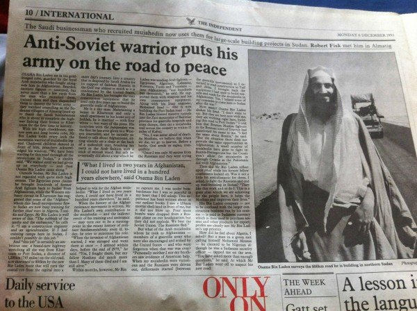 While we're looking at old media, here's a 1993 article from the Independent portraying Osama Bin Laden as a Soviet-fighting hero. Funny how the same CIA asset was used for opposing Agendas.