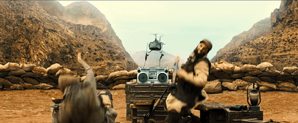 The movie starts with high tech military gear killing two Arabs men. Why? Its not important. They are Arabs so its OK.