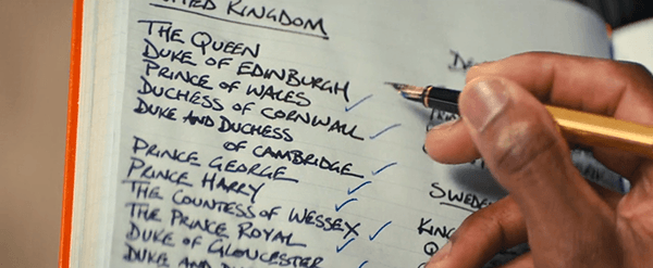 "Richmond has a notebook of the people he wants to save by bringing to his remote base while the world dies. Notice that there are no ""regular"" people on there."