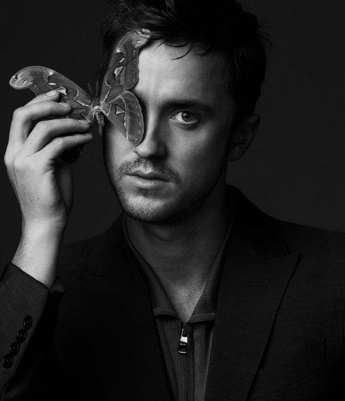 Tom Felton, from the Harry Potter movies, needs to do the one-eye sign with a butterfly to remain a celebrity.