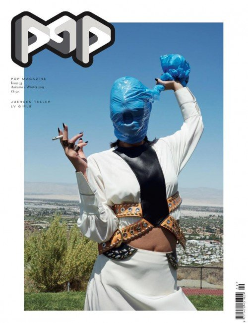 As I stated in previous editions of SPOTM, the fashion world is all about deshumanization and self-destruction. This cover of Pop Magazine, which features a model who is suffucating herself (while smoking a cigarette) is a perfect example of this disturbing trend.