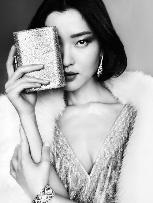 "Du Juan in Vogue China. She is touted as the ""first Chinese international supermodel""."