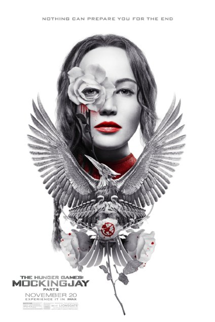 The poster for the new Hunger Games movie features a prominent one-eye sign indicating that the movie is part of the Agenda.