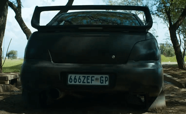 The liscence plate on Ninja's car has 666 on it. Other than appealing to the shock value of ZEF fashion, the number 666 indicates that Ninja represents Satan, the one who opposes the maker.