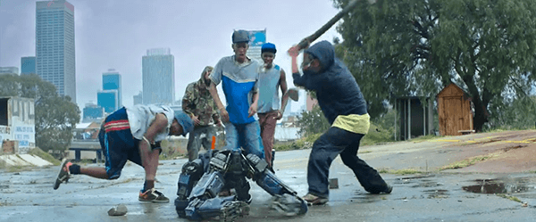 Chappie gets thrown on the streets by his father to toughen him up. He ends up getting beat up by a bunch of thugs as dramatic music plays in the background. Poooor Chappie! :(