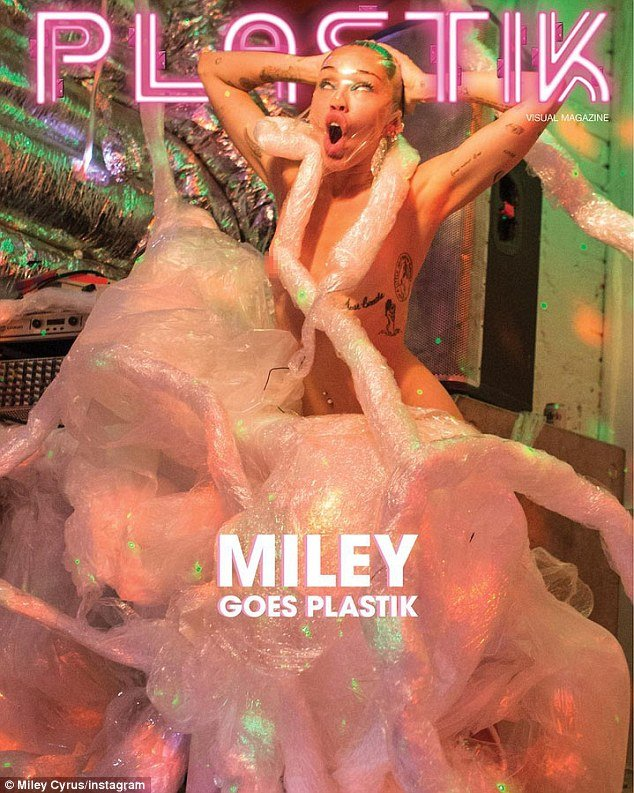 Can a month go by without Miley taking part of something demeaning. Apparently not. On this cover of Plastik magazine, Miley appears to be asphyxiating herself. Trauma, abuse, dehumanization. All part of the Agenda.