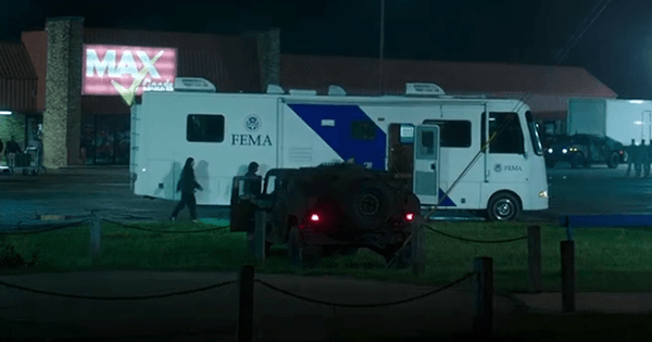 FEMA equipment is used to impose martial law in Mike's city.