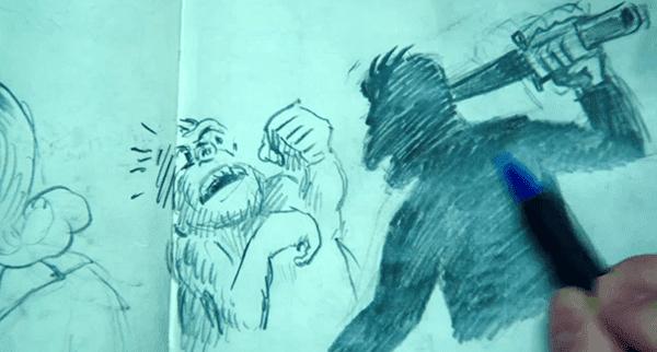 "Mike created Apollo Ape, an ""astronaut monkey who goes on adventures""."
