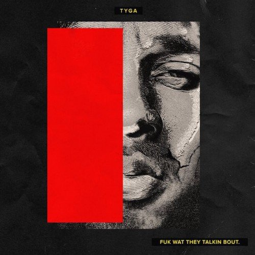 "This is the cover of Tyga's album featuring the song ""Stimulated"". Yup, one eye sign tells you all you need to know about that creepy, underage, handler/slave relationship."