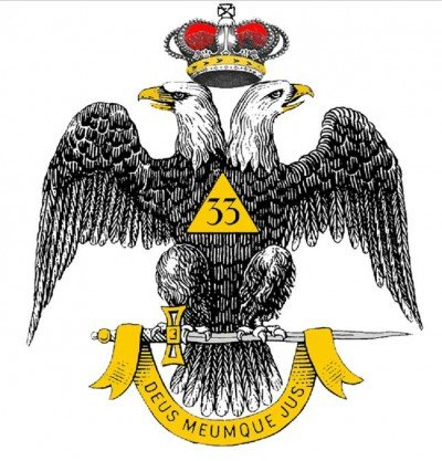 Masonic emblem of a double-headed eagle topped by a crown is used to represent the 33rd Degree - the highest degree achievable in regular Freemasonry.
