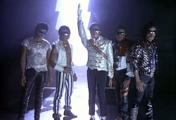 After the programming is complete, a lightning bolt crashes down and opens back the gate to the real world. And, YUP, they replaced Michael Jackson with a wax dummy because he did not want to appear in the video. YUP.