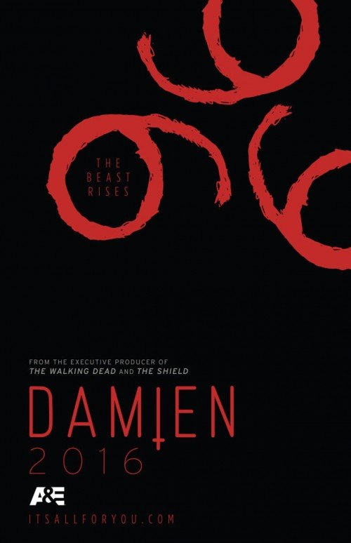 "While ""Lucifer"" is playing on FOX, A&E will be broadcasting ""Damien"", which will be a TV series where the hero comes to terms about being the anti-Christ. Yup. A good looking guy with a sympathetic demeaner will play the role of the anti-Christ. This ad features an inverted cross and a somewhat unecessary red 666. It is all about putting out in the open and normalizing the true philosophy of the occult elite."