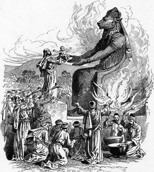 Child sacrifice to Baal/Moloch.