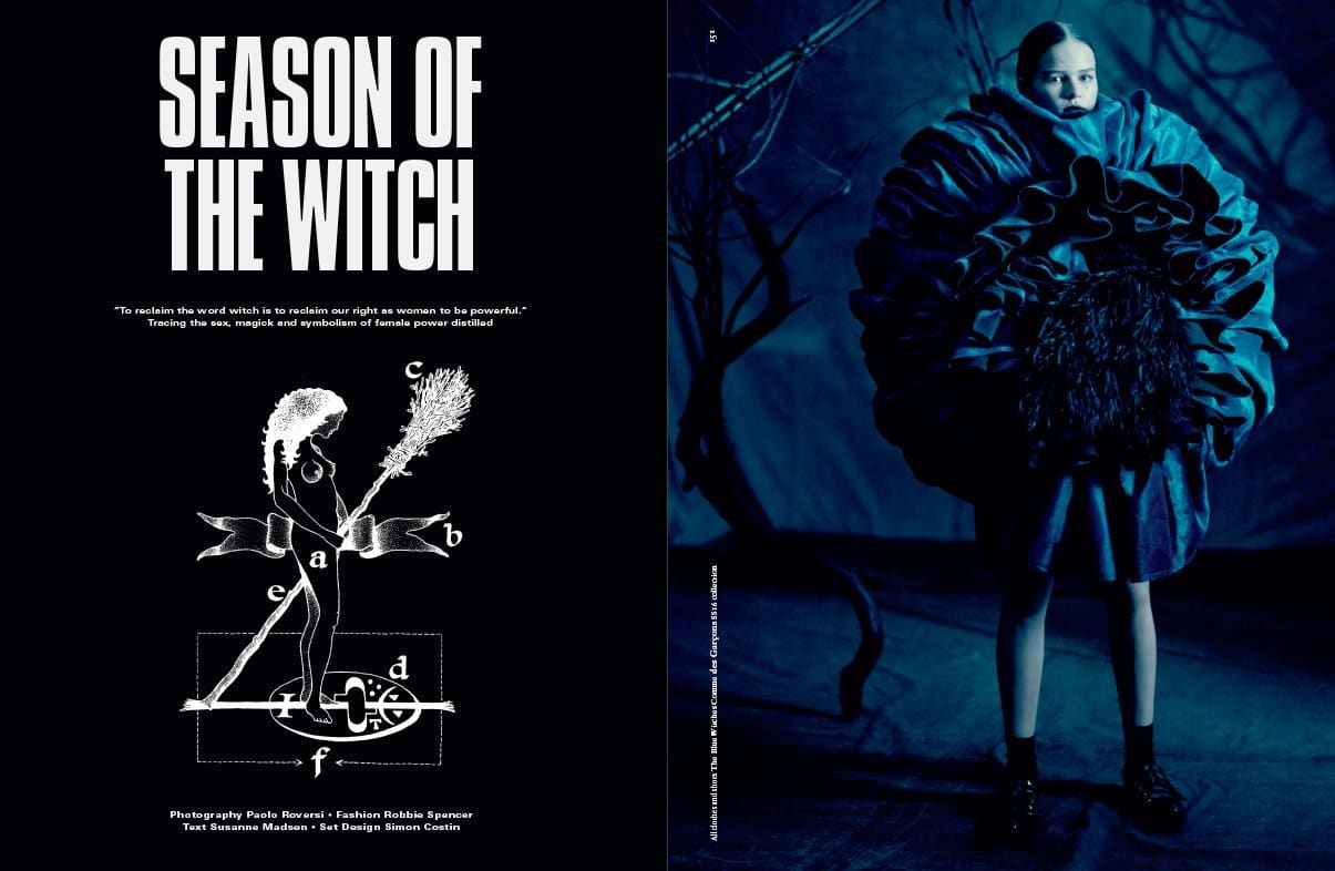 In the summer issue of Dazed magazine is an interesting photoshoot entitled Season of the Witch.