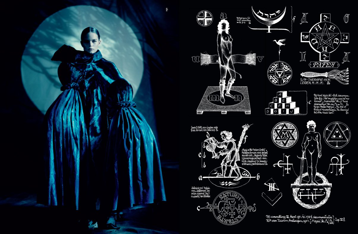 "Standing in front of a full moon (prime time for ritual magic and spirit invocation), the model wears the drapes of her mom's living room. The article describes the occult symbolism as ""badass"" without going any further. Too bad they do not mention that dabbling with practices such as Black magick, spirit invocation, possession, necromancy and so forth without knowing exactly what one is doing can lead to the exact opposite of ""empowerment"". Servitude."