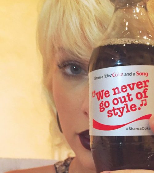 "Taylor Swift hides one-eye with a bottle of Coke that says ""We never go out of style"". I think ""They"" are trying to tell us something. Interstingly enough, the video of the song that was quoted is full of MK imagery (see my article about it here)."
