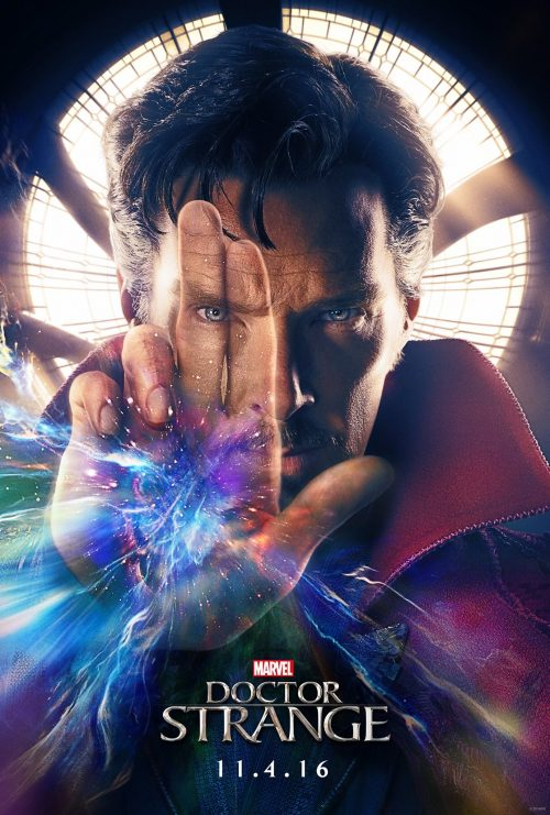 The One-Eye sign is now prominently featured on a disturbing amount of movie posters (telling you that they firmly own the movie industry). This is a poster for Dr Strange.