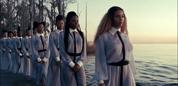 After a period of tribulation, Beyoncé (and her followers) are ready to be renewed. Baptism.