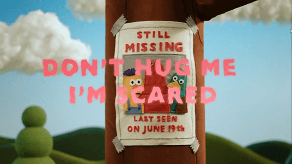 The video begins with missing sign featuring the three characters. They've been missing since June 19th...which is today.