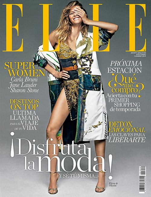The cover of Elle Spain is about the One-Eye sign. So many magazine covers.