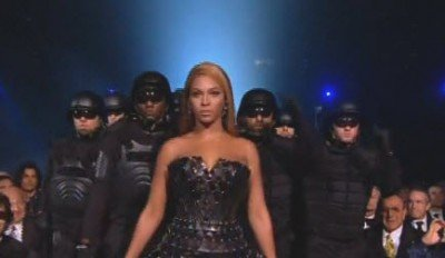 "A few years ago, Beyoncé appeared at the Grammy awards surrounded by police in riot gear - effectively pushing the police state agenda. Her ""opinion"" is whatever they decide what agenda needs to be pushed."