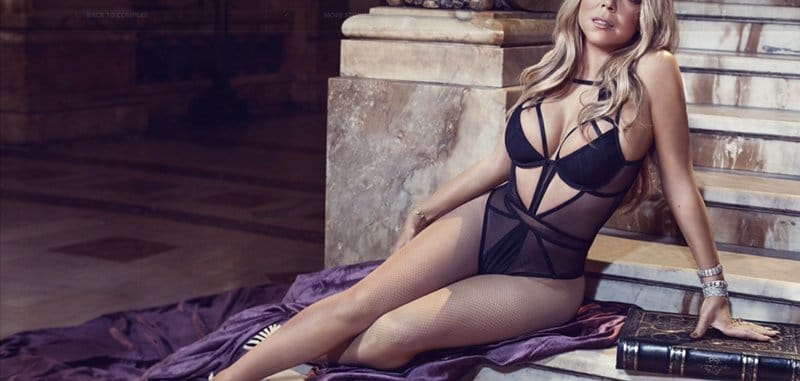 In the last image of the photoshoot, Mariah is wearing black - the color code of occult transformation. In short, Mariah is still owned by the industry and her recent pictures tend to prove this fact.