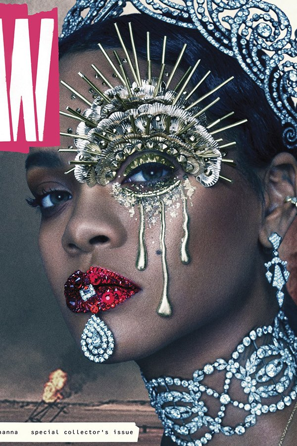 Rihanna was on the cover of W magazine with a massive emphasis on the one-eye sign.