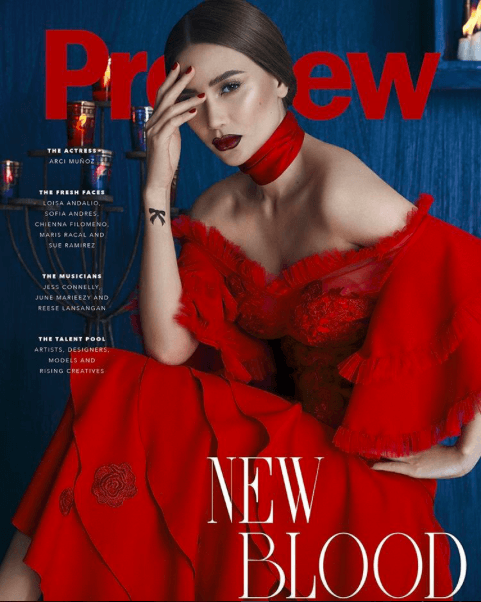 Of course, this does not happen only in the U.S. The One-Eye sign is right on magazine covers, all over the world. Here's Filipino actress and signer Arci Munoz.