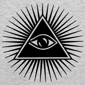 Margaret is wearing the symbol of the All-Seeing Eye inside a triangle, the favorite symbol of the occult elite.