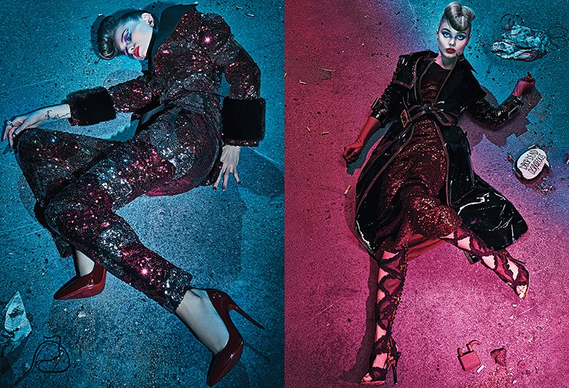 "As I often stated in previous SPTOMs, the fashion world loves making corpses look glamorous. The handbag saying ""Drop dead gorgeous"" basically says it all."