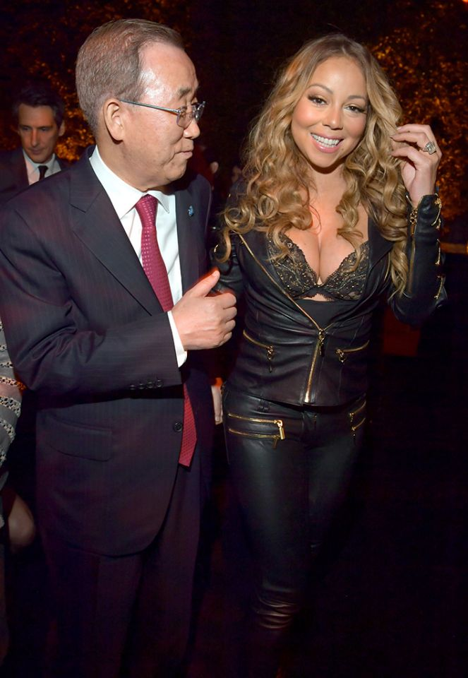 "Speaking of Sex Kitten, here's Mariah Carey. Ever since her divorced, she has been in full Beta Programming mode. Her she is with Ban Ki-Moon, the Secretary-General of the United Nations looking as if she was paid to ""escort"" him."