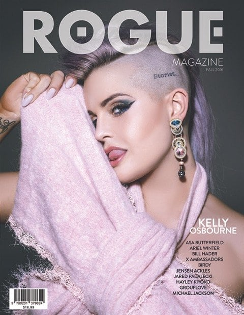 Kelly Osborne is also hiding one eye on the alternate cover of the same magazine.