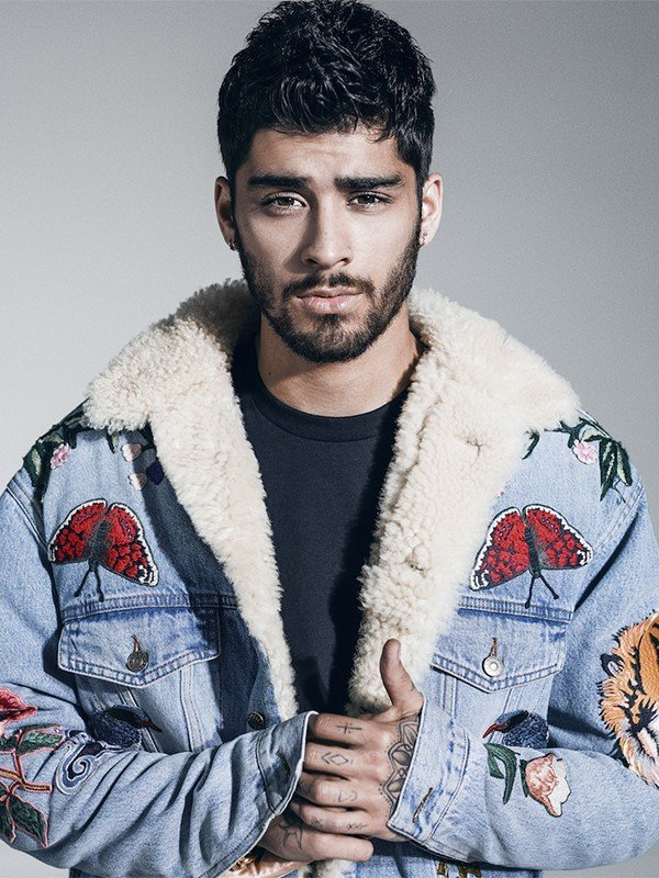 Zayn Malik was also dressed with butterflies in High Snobriety magazine.