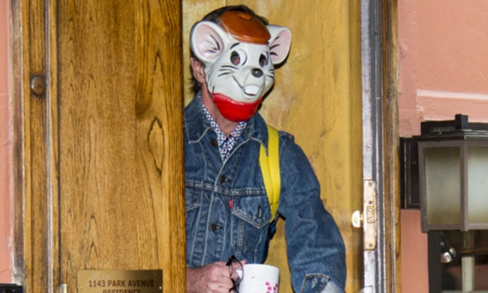 Kate Spade's Husband Wears a Bizarre Mouse Mask Two Days After Her Death