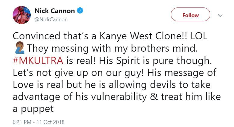 "Nick Cannon About Kanye West: ""MKULTRA is Real!"""