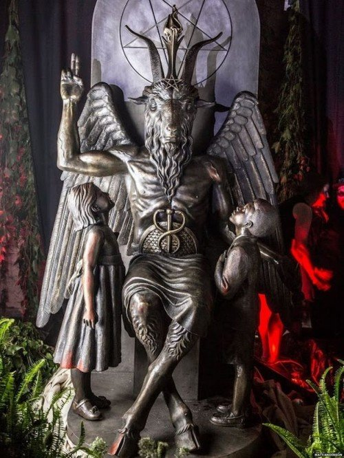 Satanic Sculpture Installed at the Illinois Statehouse