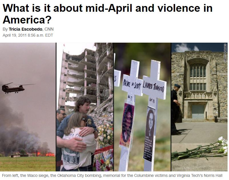 CNN April End of April: Still a Time of Fire and Human Sacrifice