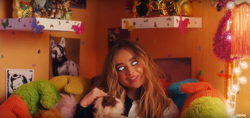 "Sabrina Carpenter's ""In My Bed"": A Video about the Mind Control of a Young Girl ... Made by Disney"