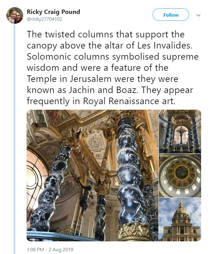 2019 09 03 19 32 47 Ricky Craig Pound on Twitter The twisted columns that support the canopy above Strange Things Are Happening on Epstein Island: Drone Footage