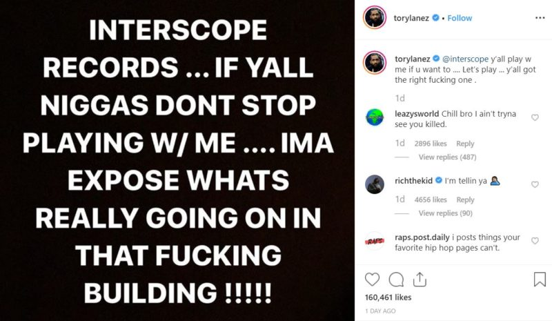 """2019 12 16 13 14 10 torylanez on Instagram """"@interscope y'all play w me if u want to .... Let's pla e1576607750389 Symbolic Pics of the Month 12/19"""