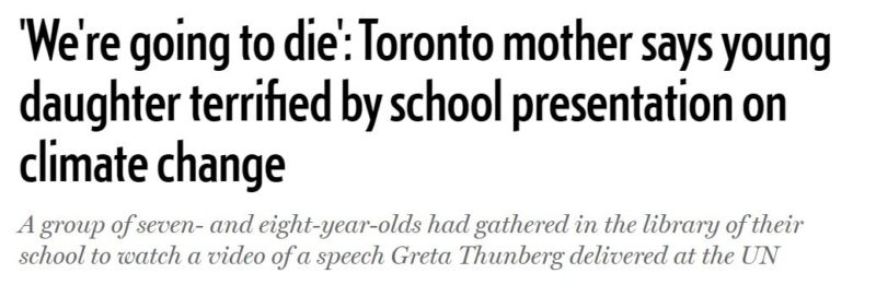2019 12 20 15 41 22 'We're going to die' Toronto mother says young daughter terrified by school pre e1576874638341 Greta, Boomers and Witchcraft: The Hidden Agendas of 2019