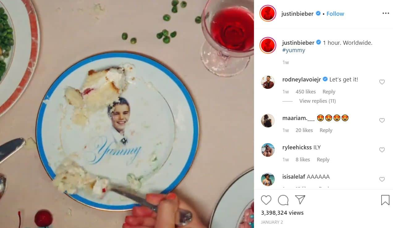 """2020 01 15 15 37 08 Justin Bieber @justinbieber • Instagram photos and videos Why is Justin Bieber Tagging Babies """"Yummy"""" on Instagram? The Answer is Sickening."""