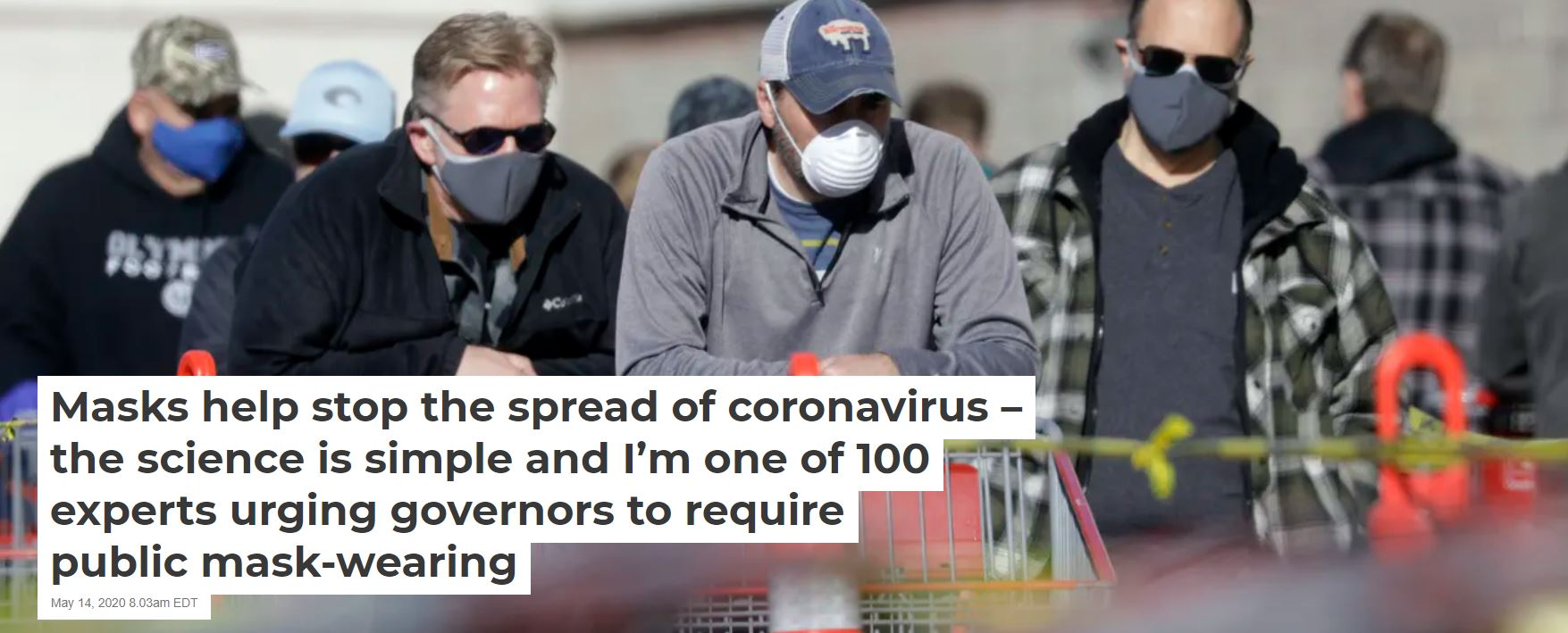 2020 05 17 13 15 30 Masks help stop the spread of coronavirus – the science is simple and Im one of The Face Mask: A Powerful Symbol of COVID Oppression