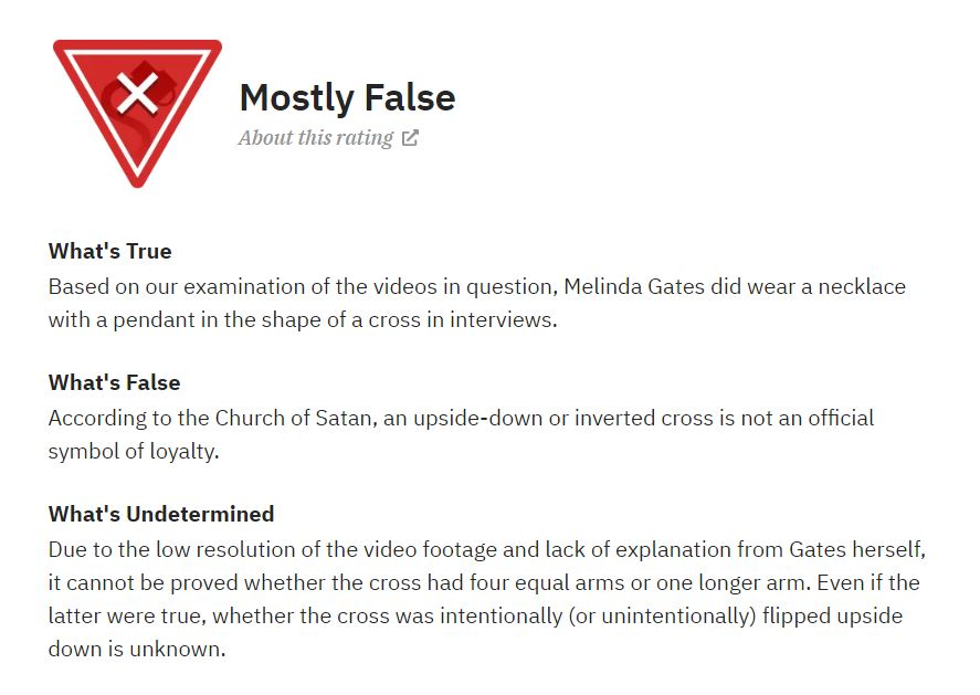 2020 06 05 08 48 15 Did Melinda Gates Wear an Upside Down Cross Symbolic Pics of the Month 06/20